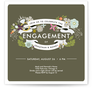 Banner Bling Engagement Party Online Invitations