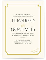 Modern Classic Engagement Party Online Invitations