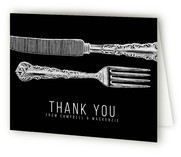 Fork And Knife Engagement Party Thank You Card