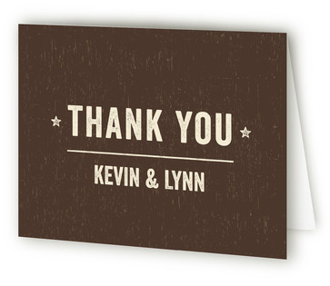 Outdoor Beer & BBQ Engagement Party Thank You Card