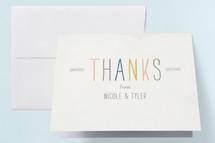 Engagement Party Thank You Card