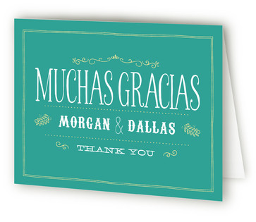 Sangria, Salsa, Engagement Fiesta Engagement Party Thank You Card