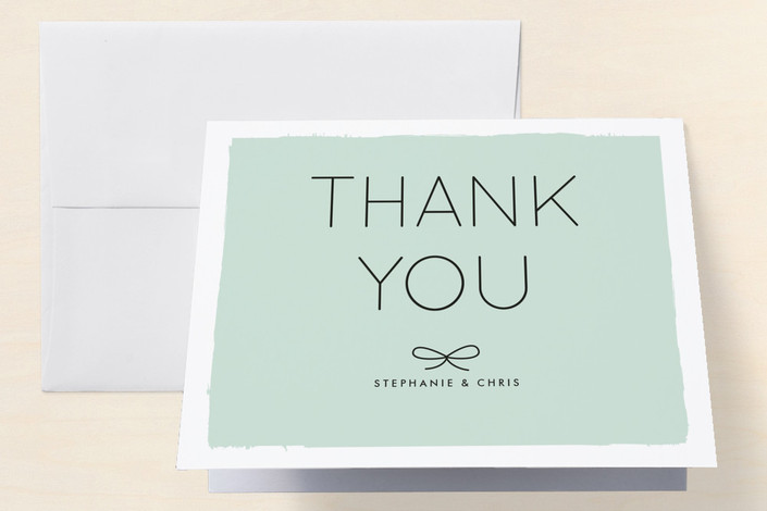 """""""Knotted"""" - Engagement Party Thank You Card in Aqua by Amber Barkley."""