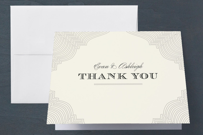 """""""Splendorous"""" - Vintage Engagement Party Thank You Card in Cream by Design Lotus."""