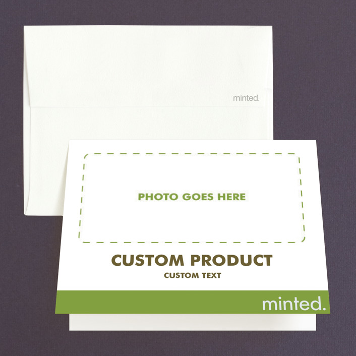 """""""Landscape"""" - Engagement Party Thank You Card in Charcoal by Minted Custom."""