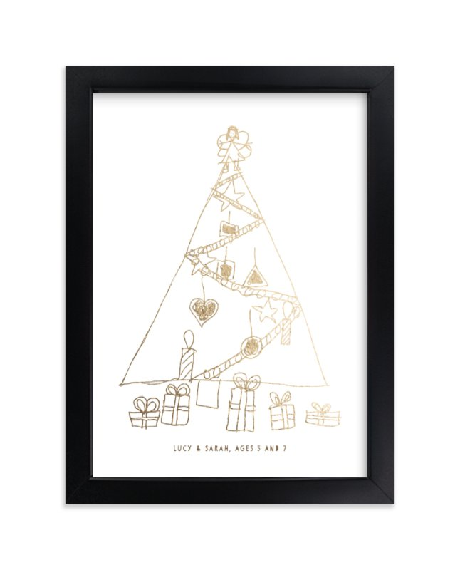 """""""Your Drawing as Foil Art Print"""" - Drawn Foil Art by Minted Custom in beautiful frame options and a variety of sizes."""