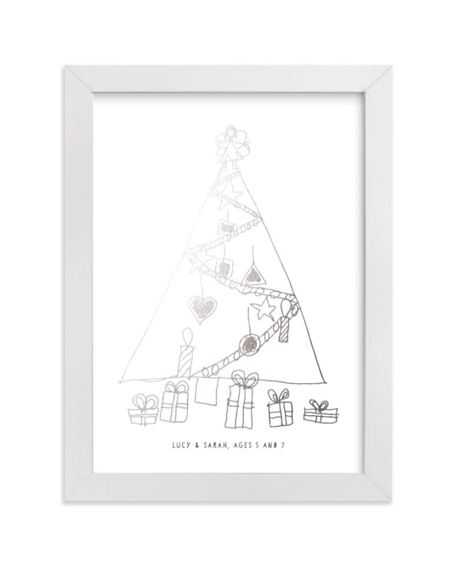 This is a silver art by Minted Custom called Your Drawing as Foil Art Print with foil-pressed.