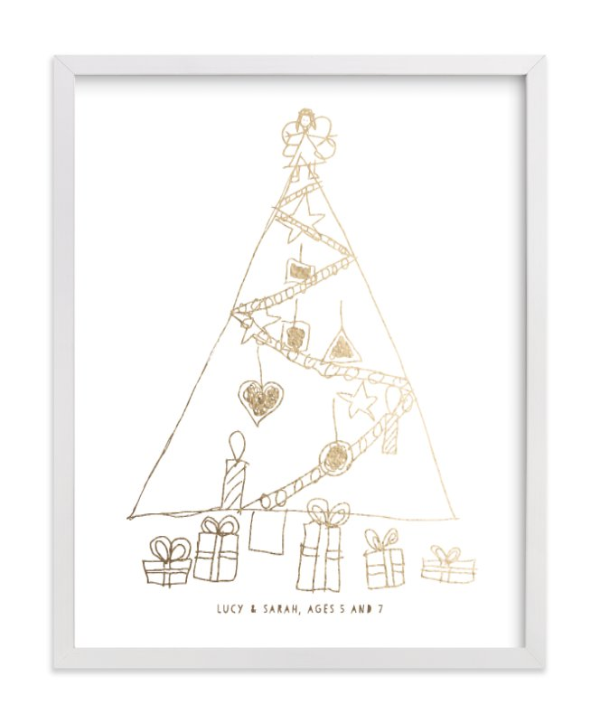 """""""Your Drawing as Foil Art Print"""" - Drawn Foil Art by Minted in beautiful frame options and a variety of sizes."""
