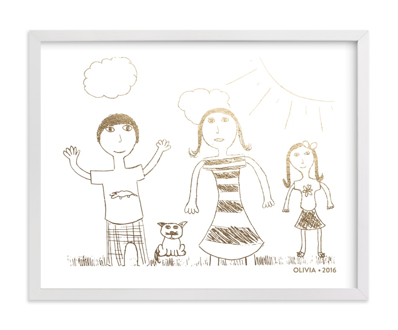 Your Drawing as Foil Art Print Your Drawing As Foil Art Print