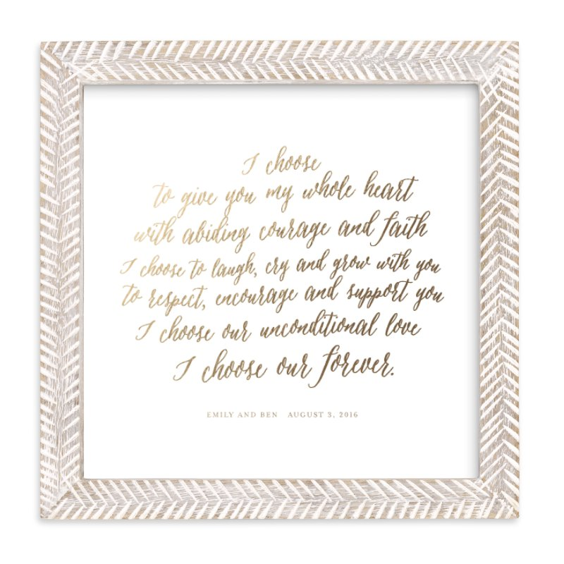 """""""Your Vows as a Foil Art Print"""" - Drawn Foil Art by Minted in beautiful frame options and a variety of sizes."""