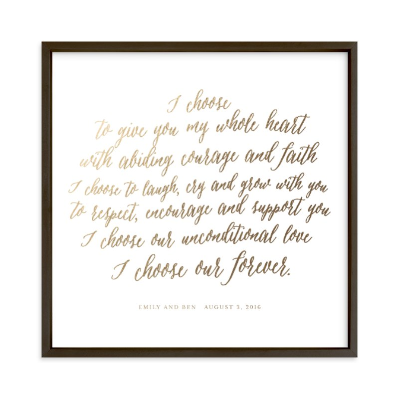 Your Vows as a Foil Art Print Your Drawing As Foil Art Print