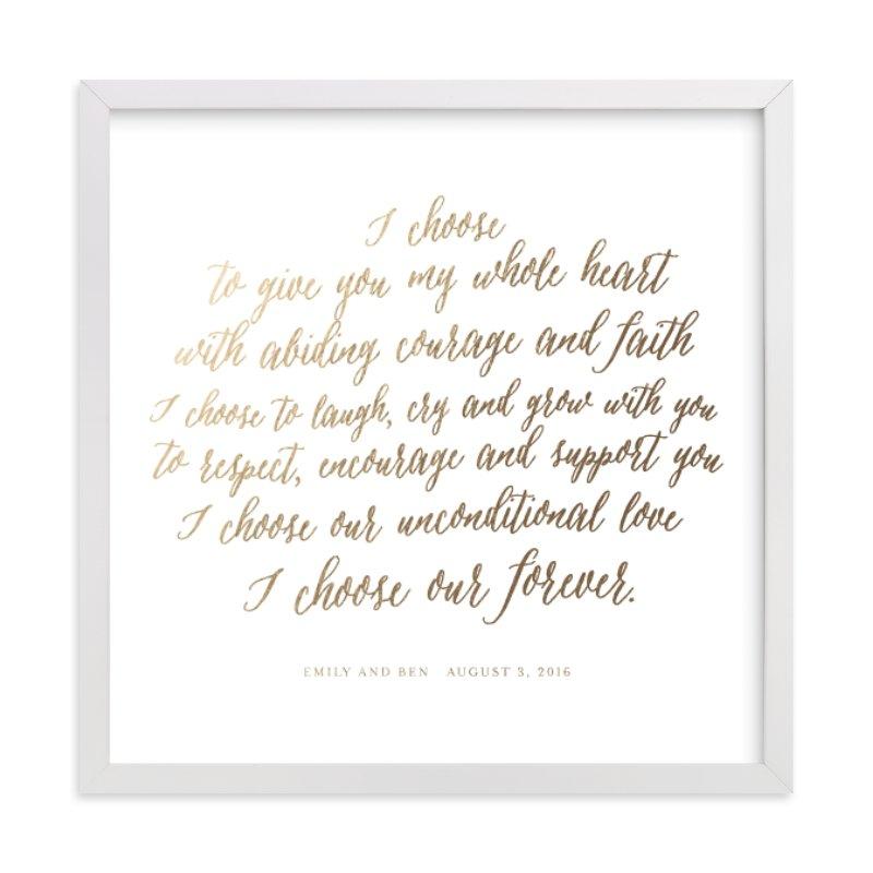 Your Vows as a Foil Art Print Your Drawing As Foil Art Print