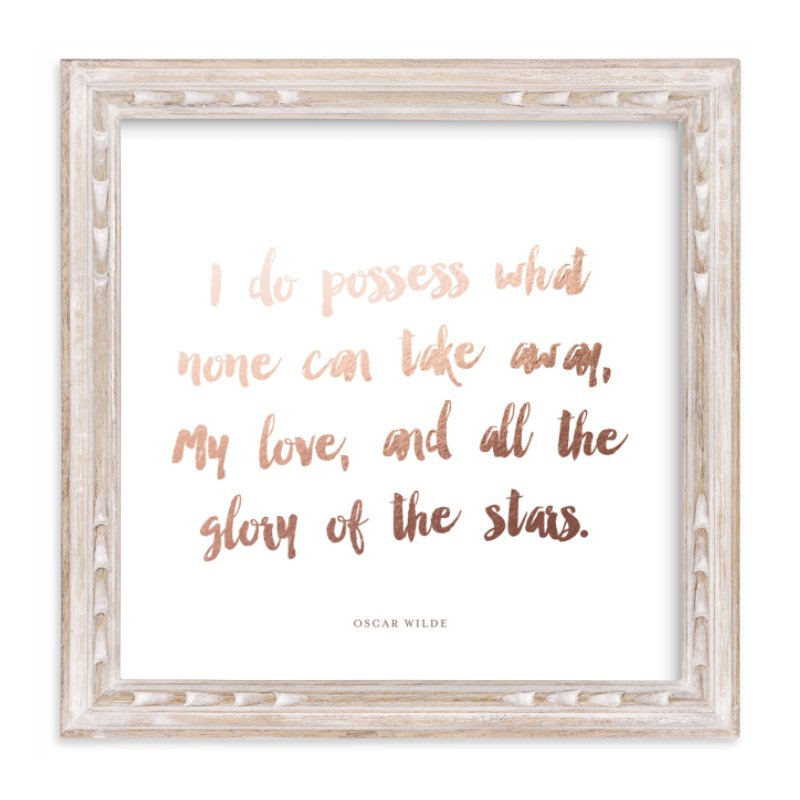 """A Favorite Poem as a Foil Art Print"" - Drawn Foil Art by Minted in beautiful frame options and a variety of sizes."