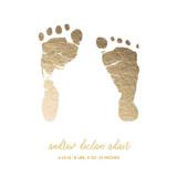 Custom Footprints Foil Art Drawn Foil Art By Minted