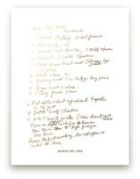 Your Recipe as a Foil Art Print