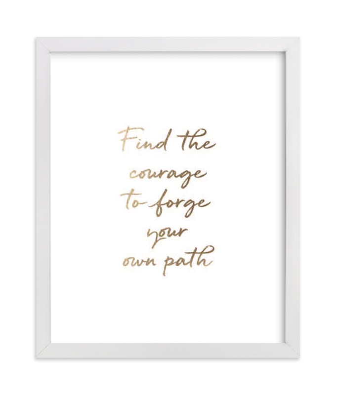 """Custom Quotes"" - Drawn Foil Art by Minted in beautiful frame options and a variety of sizes."