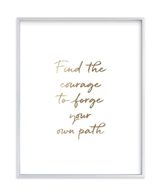 Custom Quotes Your Drawing As Foil Art Print