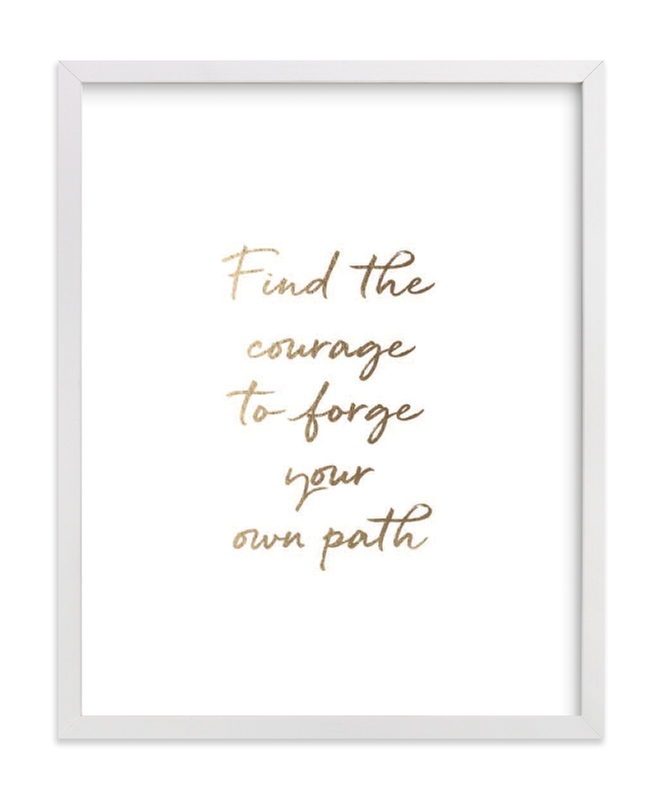 """""""Custom Quotes"""" - Drawn Foil Art by Minted in beautiful frame options and a variety of sizes."""