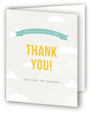 Ballooned Away Farewell Party Thank You Cards