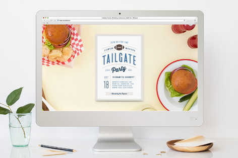 Tailgate Party Sport and Event Online Invitations