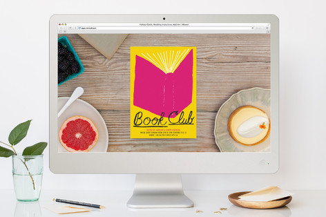 book club sport and event online invitations by el minted