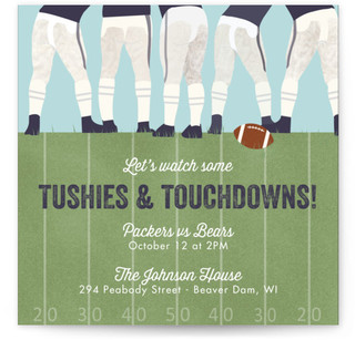 tushies and touchdowns sport and event online invitations