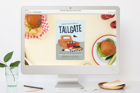 tailgate sport and event online invitations by its minted