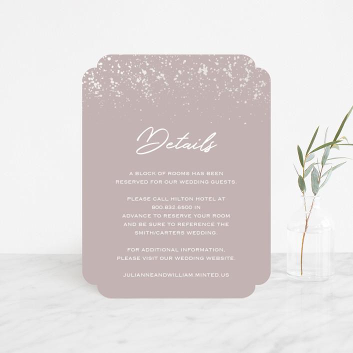 """Paint Splash"" - Modern Gloss-press™ Direction Cards in Nude by Juliana Zimmermann."