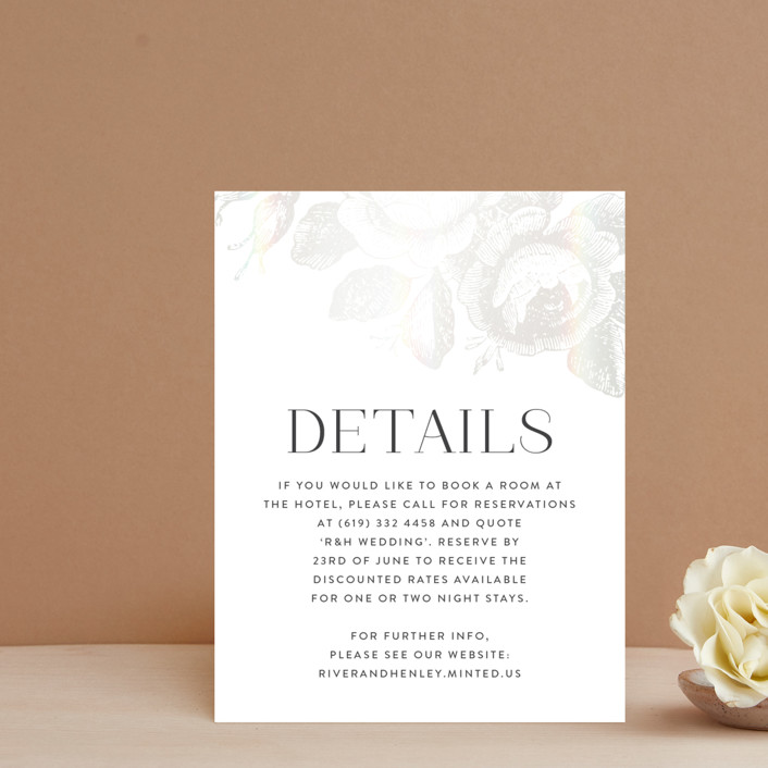 """""""Beloved"""" - Rustic Gloss-press™ Direction Cards in Snow by Design Lotus."""