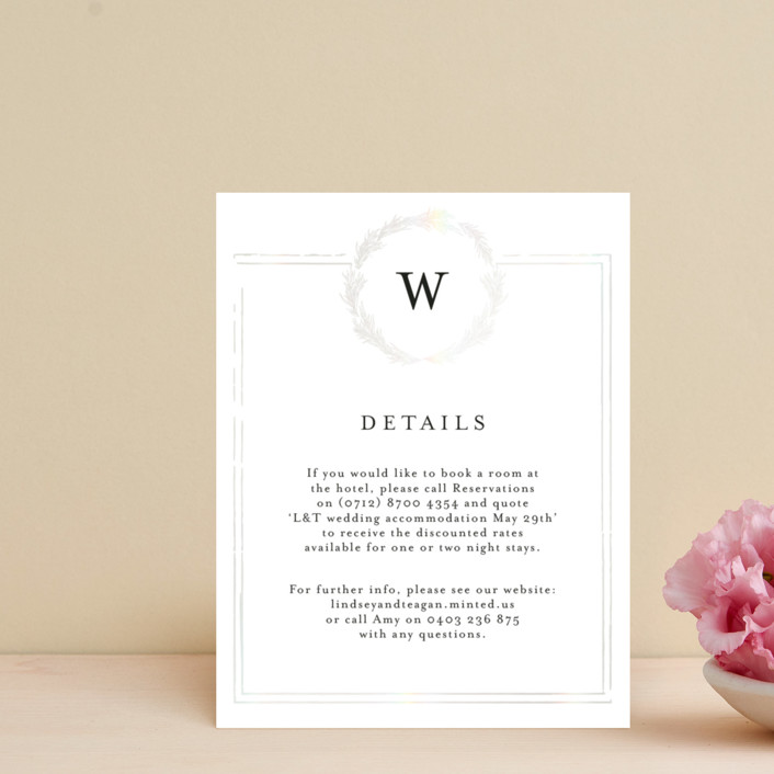 """""""Little Wreath"""" - Gloss-press™ Direction Cards in Pearl by Phrosne Ras."""