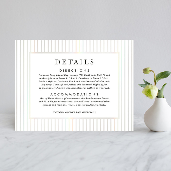 """""""Gilded Bloom"""" - Rustic Gloss-press™ Direction Cards in Pearl by Christie Kelly."""