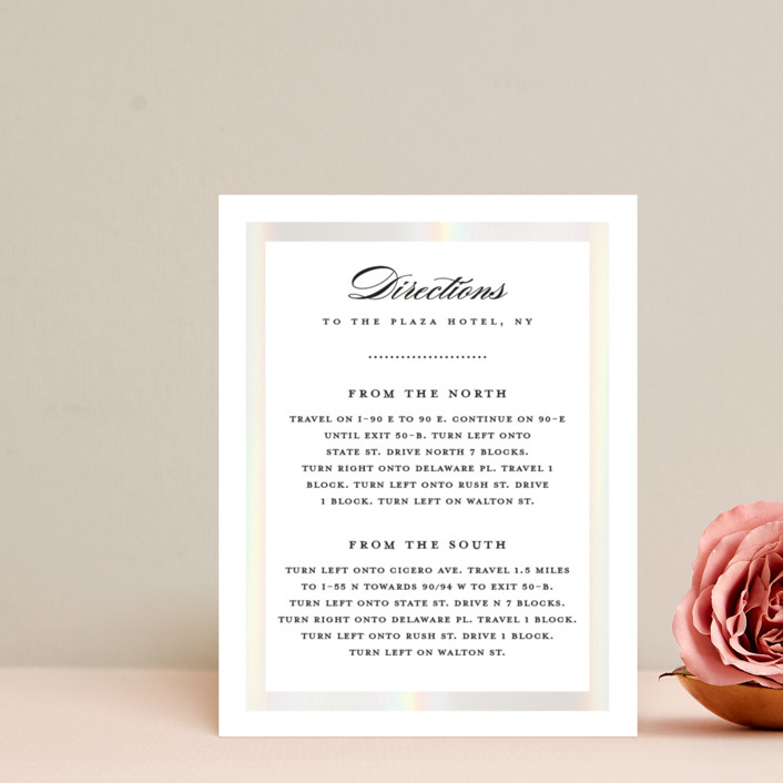 """""""Lasting love"""" - Gloss-press™ Direction Cards in Moonstone by Stacey Meacham."""