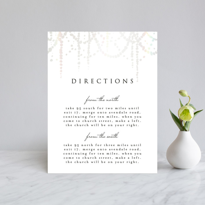 """""""Pearl Garland"""" - Gloss-press™ Direction Cards in Cloud by Julia Hall."""
