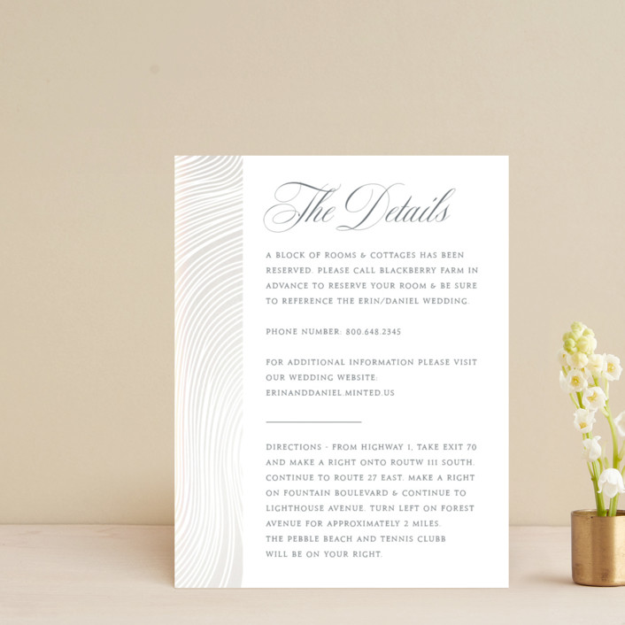 """""""Lined"""" - Modern Gloss-press™ Direction Cards in Cloud by Erin Deegan."""
