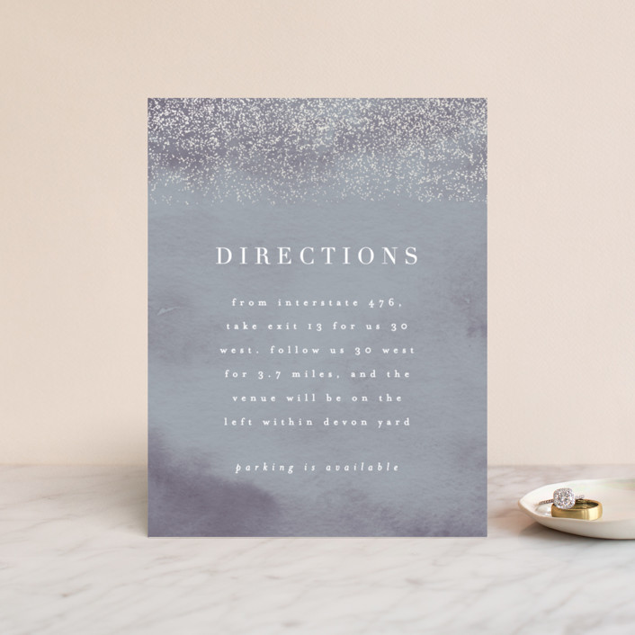 """""""Dusted"""" - Gloss-press™ Direction Cards in Pale Ice by Everett Paper Goods."""