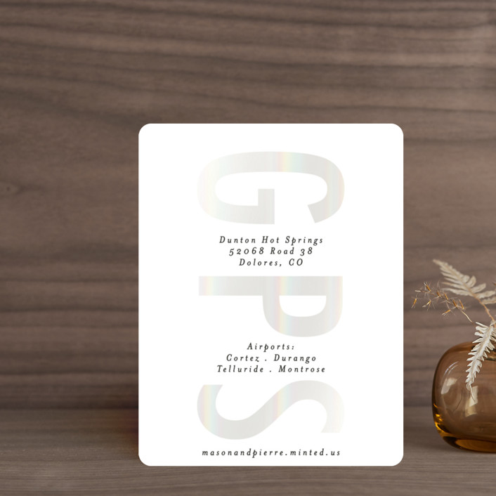 """Oui"" - Gloss-press™ Direction Cards in Opal by Gwen Bedat."