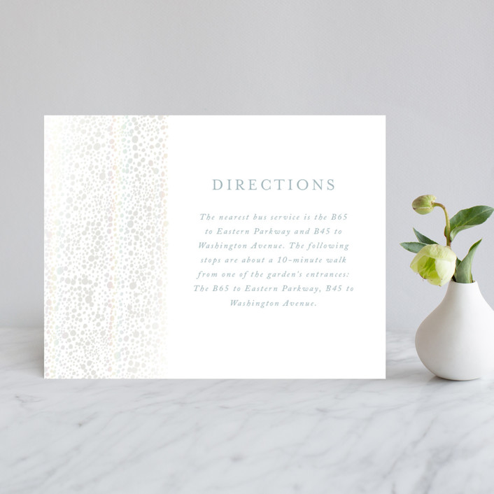 """Modern Elegance"" - Modern Gloss-press™ Direction Cards in Opal by Alexandra Dzh."