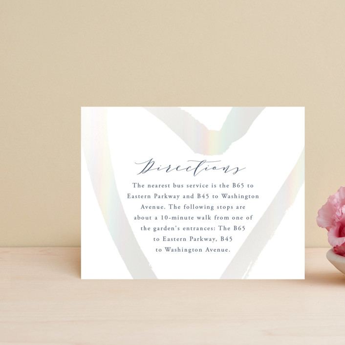"""""""love heart"""" - Gloss-press™ Direction Cards in Cloudy by Alexandra Dzh."""