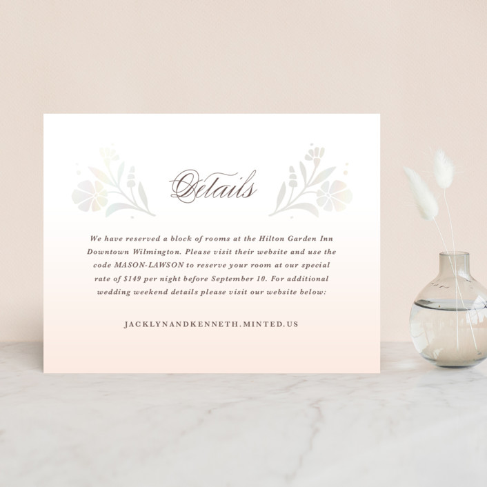 """""""Jasmine"""" - Gloss-press™ Direction Cards in Shimmer by Kristen Smith."""