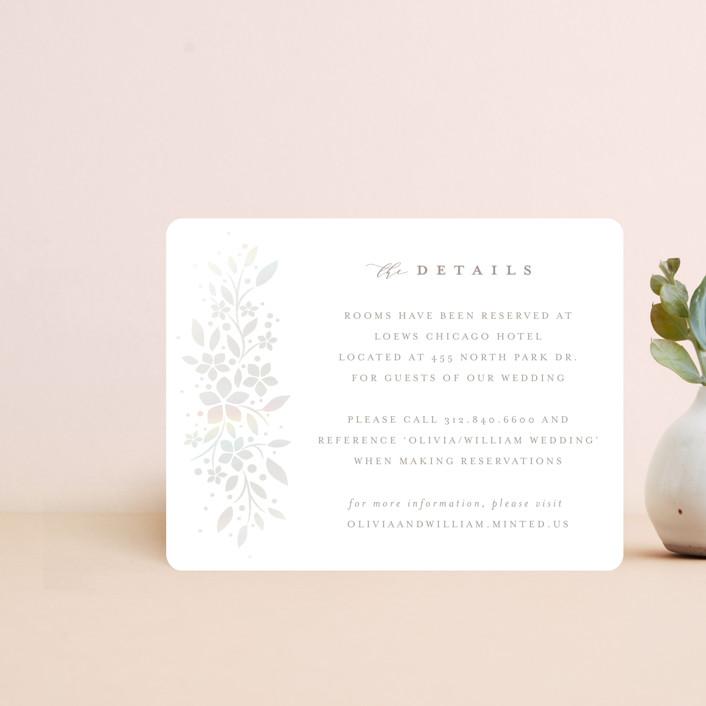 """trellis"" - Gloss-press® Direction Cards in Opal by Melanie Kosuge."
