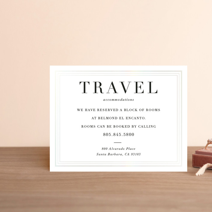 """Tailored Stripes"" - Gloss-press™ Direction Cards in Opal by Griffinbell Paper Co.."