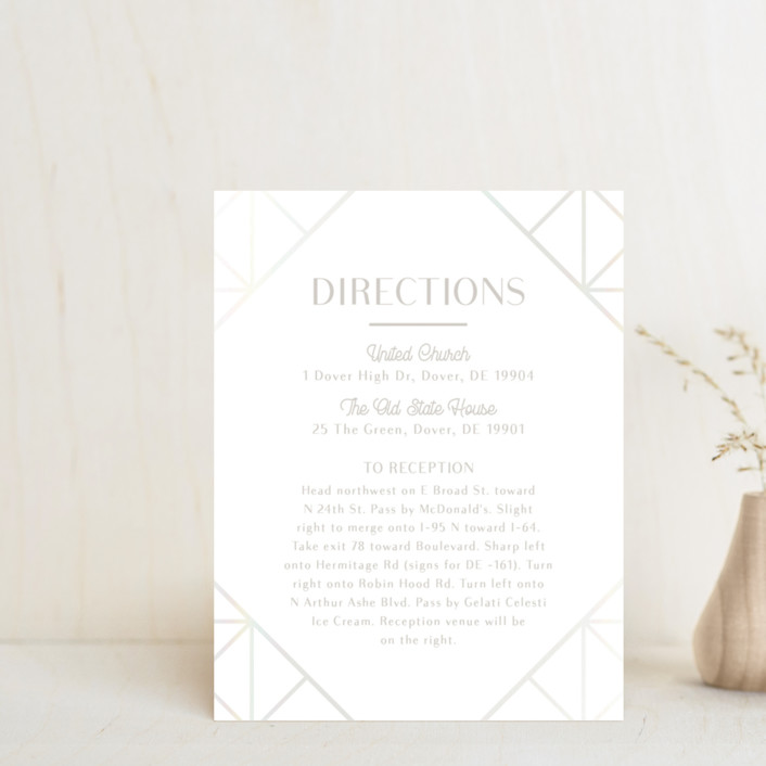 """""""Brilliant Cut"""" - Vintage Gloss-press™ Direction Cards in Diamond by Meggy Masters."""
