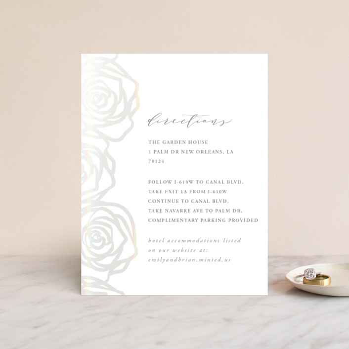 """Rose Box"" - Gloss-press™ Direction Cards in Natural by Melinda Denison."