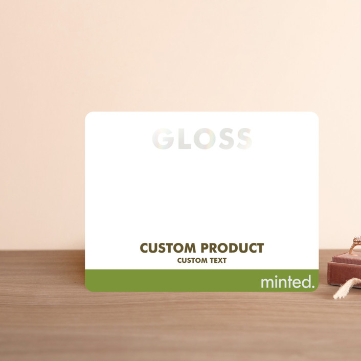 """Landscape"" - Gloss-press™ Direction Cards in Iridescent Pearl by Minted Custom."