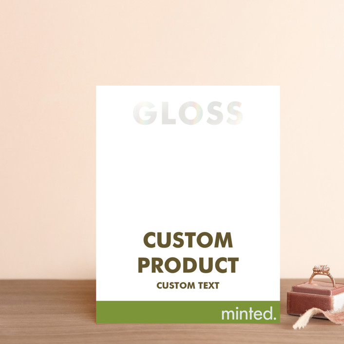 """""""Landscape"""" - Gloss-press™ Direction Cards in Iridescent Pearl by Minted Custom."""
