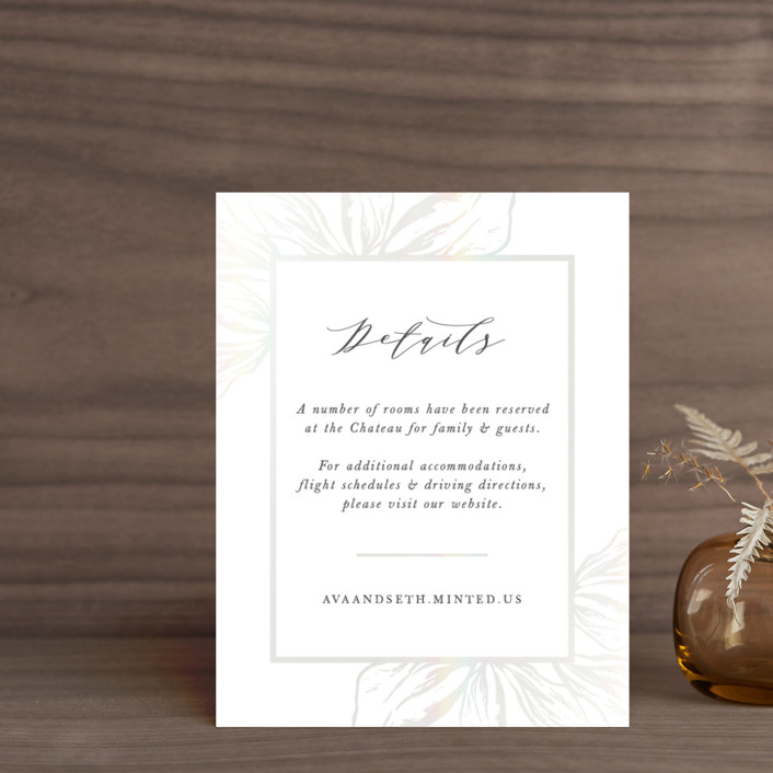 """Forevermore"" - Gloss-press™ Direction Cards in Champagne by Melinda Denison."
