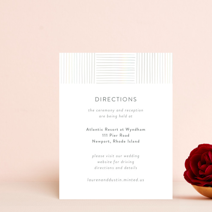 """Bamboo"" - Modern Gloss-press™ Direction Cards in Quartz by Tennie and Co.."