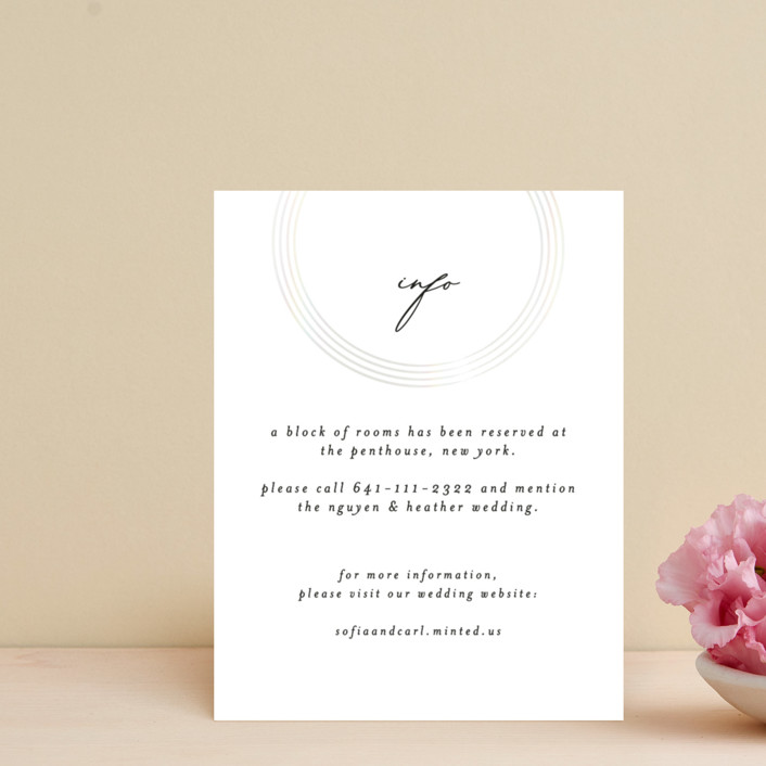 """""""gloss rings"""" - Modern Gloss-press® Direction Cards in Quartz by Roxanne Fay."""