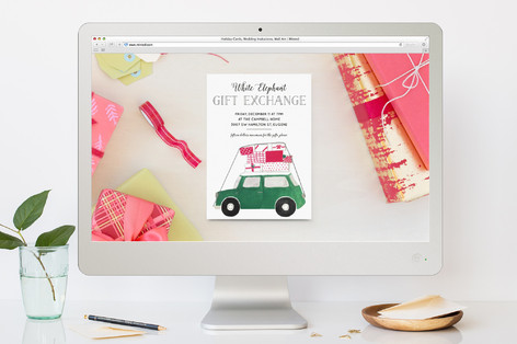 Car Full of Gifts Holiday Party Online Invitations