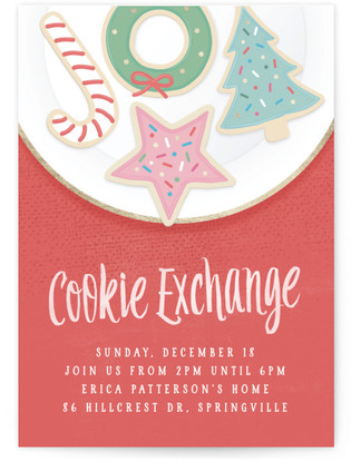 Christmas Cookie Exchange Holiday Party Online Invitations